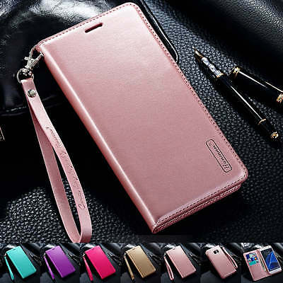 Luxury Pu Leather Wallet Flip Card Case Cover For Samsung Galaxy S7 Edge S8 Plus
