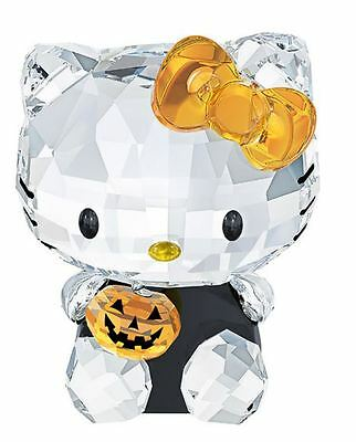 NIB $150 Swarovski Crystal Figurine Hello Kitty Halloween #1191918