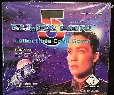 Babylon 5 Deluxe Edition Card Game (24/8) Booster Display Box FACTORY SEALED CCG