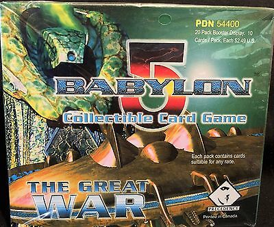 """BABYLON 5 """"The Great War"""" Booster Card Box (20/10) Precedence FACTORY SEALED CCG"""