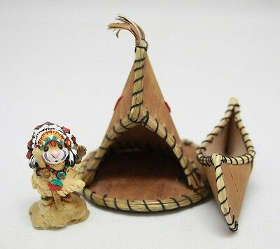 Wee Forest Folk M-107a Indian Chief Geronimouse w/ Teepee and Kayak Accessories
