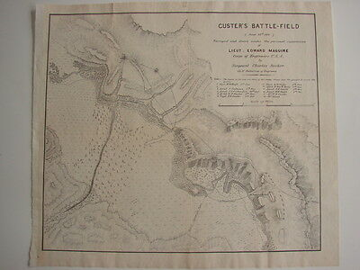 1876 Maguire Official Govt. Report/Map of the CUSTER BATTLEFIELD Little Big Horn