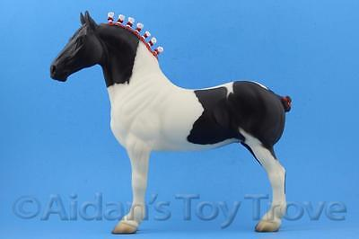 Peter Stone 9612 Pecos Chief - Traditional Horse - Black Pinto Standing Drafter