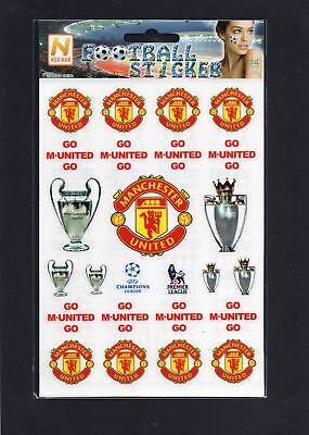 Football Stickers Go Manchester United Football Club Premier League Champions