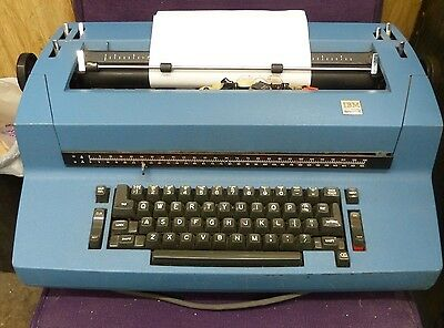 IBM selectric II correcting electric typewriter Blue vintage 1970's with extras