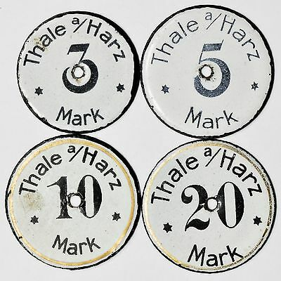 Germany (Thale am Harz) ND 20, 10, 5, 3 Mark Set of 4 Coins, Rare [3031.51]