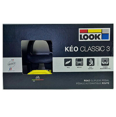 Look Keo Classic 3 Road Pedals Yellow