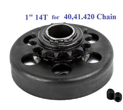 "Centrifugal Clutch 1"" Bore 14T 14 Tooth For 40,41,420 Chain Up to 8HP, 2300 RPM"