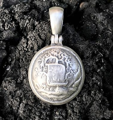 Sterling Silver Confederate ALABAMA Button (AB7B) Civil War Relic Pendant