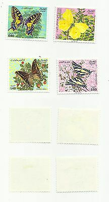 Algeria - Scott# 668-671 Butterflies  - Mint, hinged      stk#pd