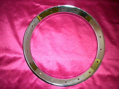 "BANJO TONE RING CHROME PLATED-FLATHEAD for Standard 11"" Head"