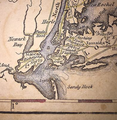 1795 Large, Original Map Of New York; By Samuel Lewis. Early Vintage Americana