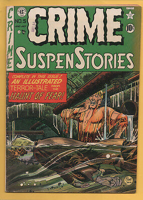 Crime SuspenStories #5 EC 1951 Johnny Craig Sewer Cover NICE! VG/FN