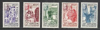 Morocco Scott 8 - 12 Mh Set - 1956 Campaign Against Illiteracy Issue
