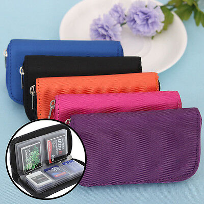 Memory Card Storage Carrying Pouch Case Holder Wallet For CF/SD/SDHC/MS/DS AU