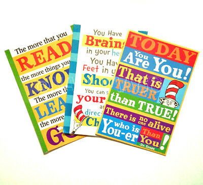 Dr Seuss Inspirational Quotes Poster Print - Assorted Styles - New in Plastic
