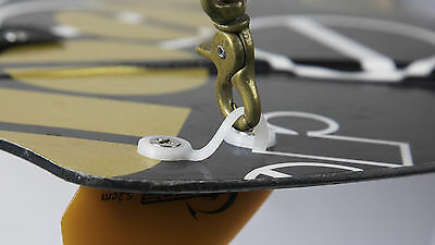 Kiteboard Leash Ring (connector) Integrated with Fin Screws Washers