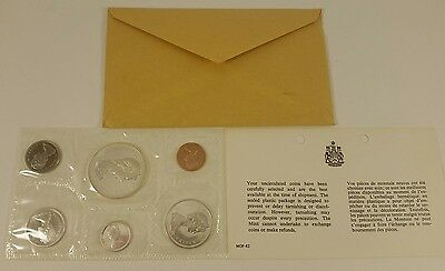 1966 Royal Canadian Mint Proof-Like 6 coin set, 80% silver - with Envelope