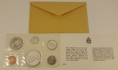 1965 Royal Canadian Mint Proof-Like 6 coin set, 80% silver - with Envelope