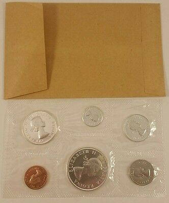 1962 Royal Canadian Mint Proof-Like 6 coin set, 80% silver - with Envelope