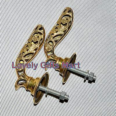 Vintage Antique Style Solid Brass handmade  Retro Entry Door Handle @
