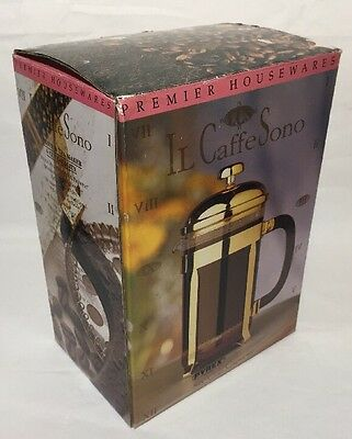 Premier Housewares IL Caffe Sono 6 Cup cap Mesh filter NEW in Box Coffee Maker