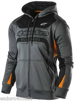 Alpinestars Session Fleece Charcoal Factory NEU MX Enduro Freizeit Hoody Sweater