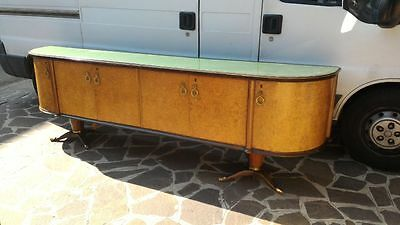 Very Long Original Italian Art Deco Sideboard Rosewood Veneered From 1930