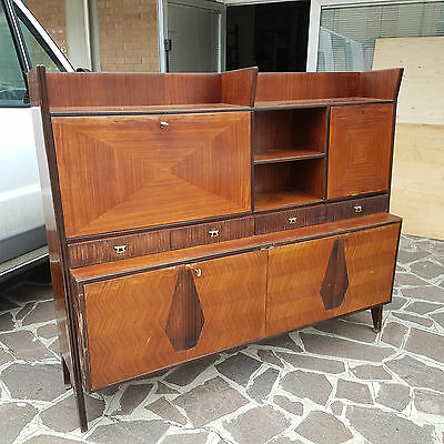 "Rare Original Italian Art Deco Sideboard Rosewood Marked ""la Permanente Cantu'"""
