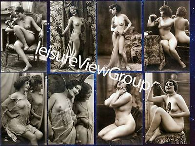 8 Postcard Vintage Victorian Risque Nude Beautiful Reproduction Photos ..