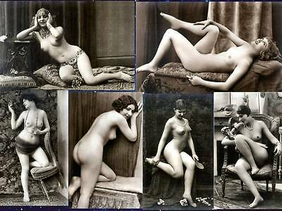 6 Postcard Vintage Victorian Risque Reproduction Photos Set 10A