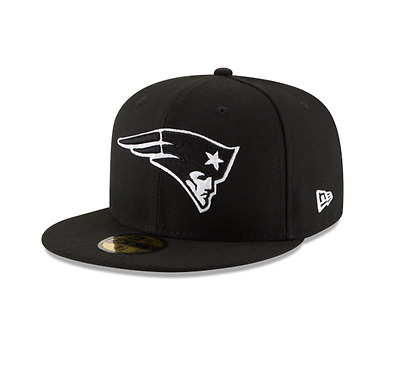 New Era 5950 NEW ENGLAND PATRIOTS Official NFL Basic League Cap Black Fitted