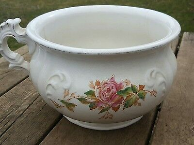 Empire Trenton JUNE ROSES Chamber Pot circa 1892