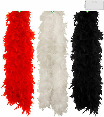 Feather Boa Fancy Dress Costume Accessory Burlesque/showgirl/dancer/hen Party