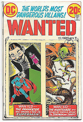 Wanted #9 (DC 1973, vf- 7.5) Superman & Sandman. Guide value $12.50 (£10.00)