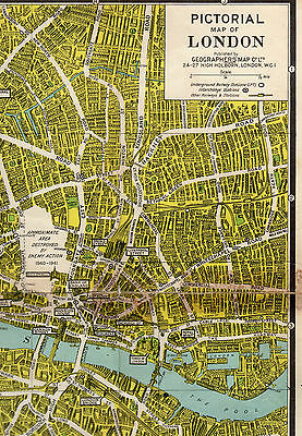 Geographers London Pictorial map - Alexander Gross F.R.G.S.
