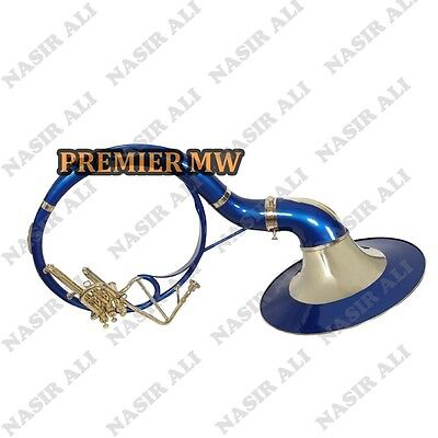 "Sousaphone Small Bell 21"" For Sale Pmw W/ Carry Bag + Mp +Checked + Blue Color"