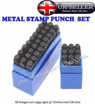 Stamps Punch Set Case Steel Metal Die Tool Craft Letters Alphabet And Numbers