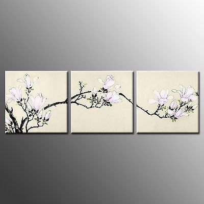 FRAMED HD Canvas Print Home Decor Magnolia  Wall Art Canvas Painting Print-3pcs