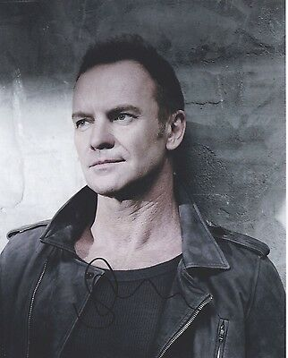 Signed Original Color Photo of Sting of 1990's Music