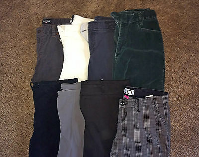 LOT A 8 Pairs Women's Designer Casual Career Dress Pants Slacks 10 MEDIUM M GUC