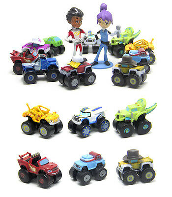 12 Blaze And The Monster Machines Action Figures Doll Kids Cake Topper Decor Toy