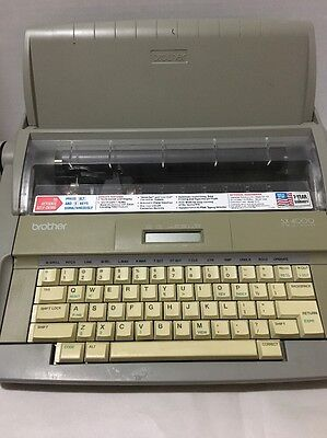 BROTHER SX-4000 ELECTRONIC DICTIONARY TYPEWRITER TESTED/WORKS w/ COVER