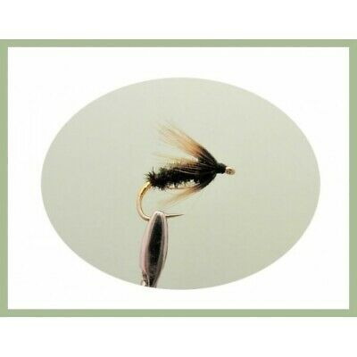 Wet Trout Flies, 6 Pack Coch y Bondhu Wet Fishing Flies, Choice of Sizes