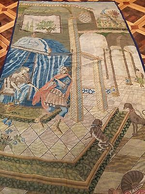 OLD RARE FINE QUALITY FRENCH LARGE WALL HANGING TAPESTRY 12'x6.6'  OLD ESTATE