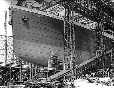 Photograph of the Steamship RMS Titanic Under Construction Year 1911  8x10