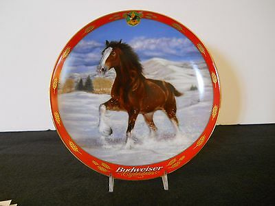 Anheuser-Busch Pride of Budweiser Ltd Ed.Collector Plate CLYDESDALE CANTER A555