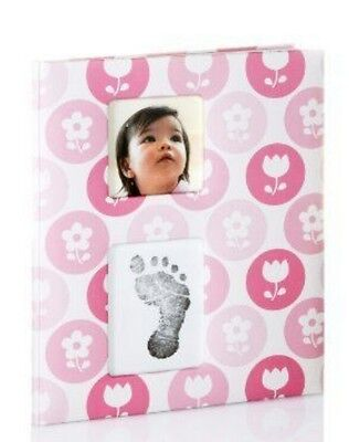 Pearhead Babybook Pink - Record your baby's moments & milestones. With ink pad
