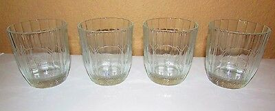 Crown Royal Etched Logo Glass Von Pok Made In Italy Set of 4