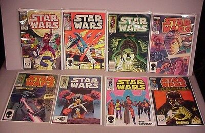 1984 Star Wars Comics 8 Comic Books #82 - #90 Marvel sci-fi vintage space movie
